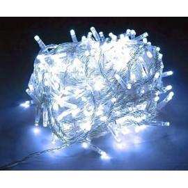 Гирлянда Холодная белая 100 Led Длина 8 м прозрачный провод - 189669