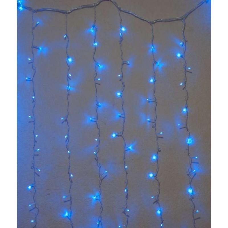 Гирлянда штора внутренняя Занавес, curtain 1,5m х 1,5m, 240 Led, синяя - 189736