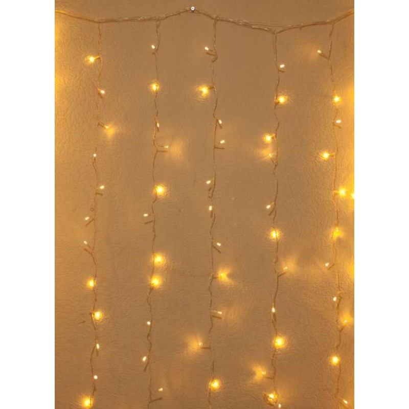 Гирлянда штора внутренняя Занавес, curtain 1,5m х 1,5m, 240 Led, Тёпло Белая - 189738