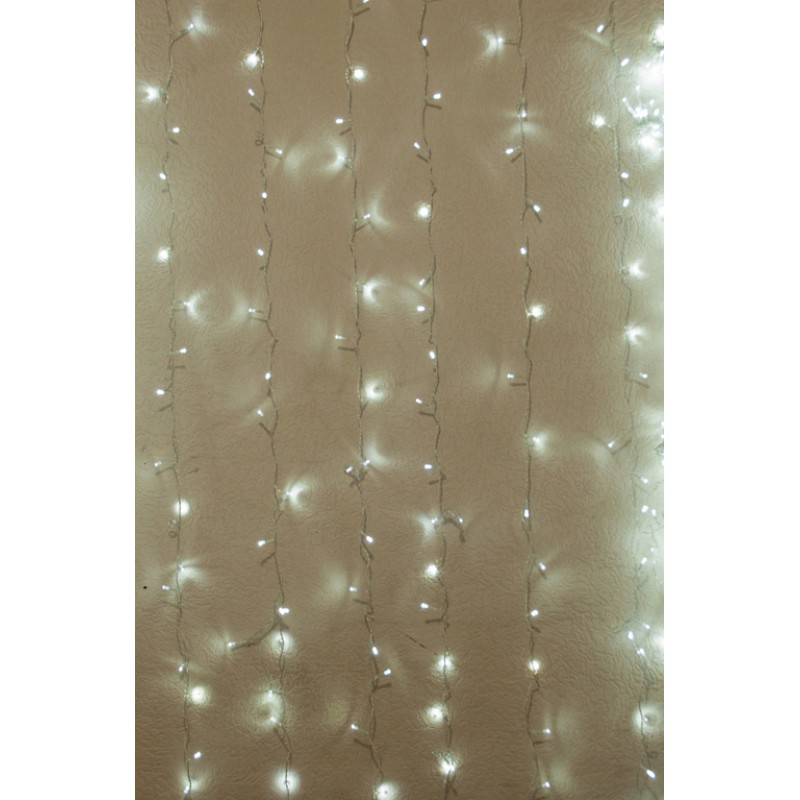 Гирлянда штора внутренняя Занавес, curtain 1,5m х 1,5m, 240 Led, Холодно Белая - 189737