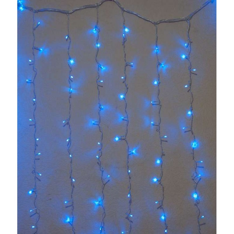 Гирлянда штора внутренняя Занавес, curtain 2,0m х 2,0m, 320 Led, синяя с мерцанием - 189750