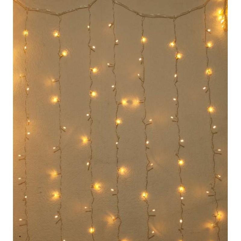 Гирлянда штора внутренняя Занавес, curtain 2,0m х 2,0m, 320 Led, Тёпло белая с мерцанием - 189754