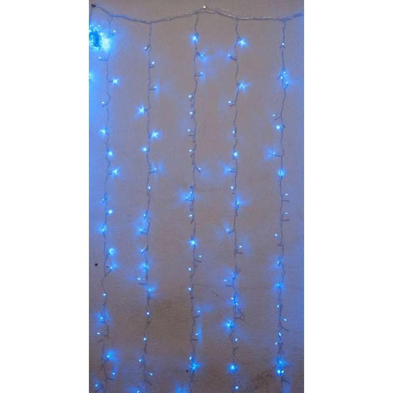 Гирлянда штора внутренняя 3м х 3м, 640 Led, синяя - 189781
