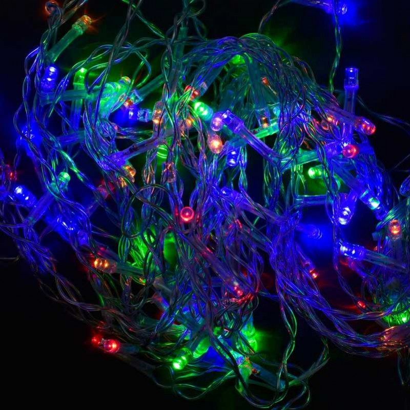 Гирлянда-штора светодиодная С 31311 100 100 лампочек, длина провода 3 метра - 179595