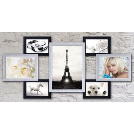 Пластиковая мультирамка на 7 фото Семь желаний, черно-белая