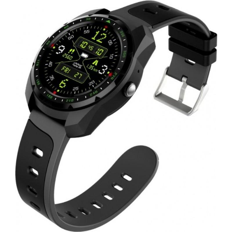 Умные часы King Wear KW01 с влагозащитой и пульсометром (Черный)
