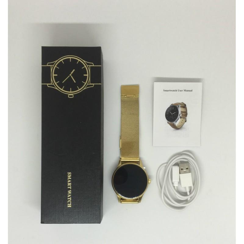 Умные часы Lemfo K88H с пульсометром (Золотой)