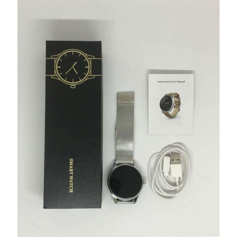Умные часы Lemfo K88H с пульсометром (Серебристый)
