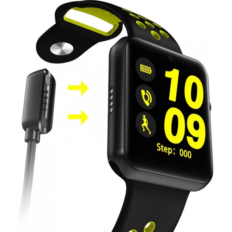 Умные часы Lemfo LF07 Plus c SIM картой и встроенной камерой (Черно-желтый)