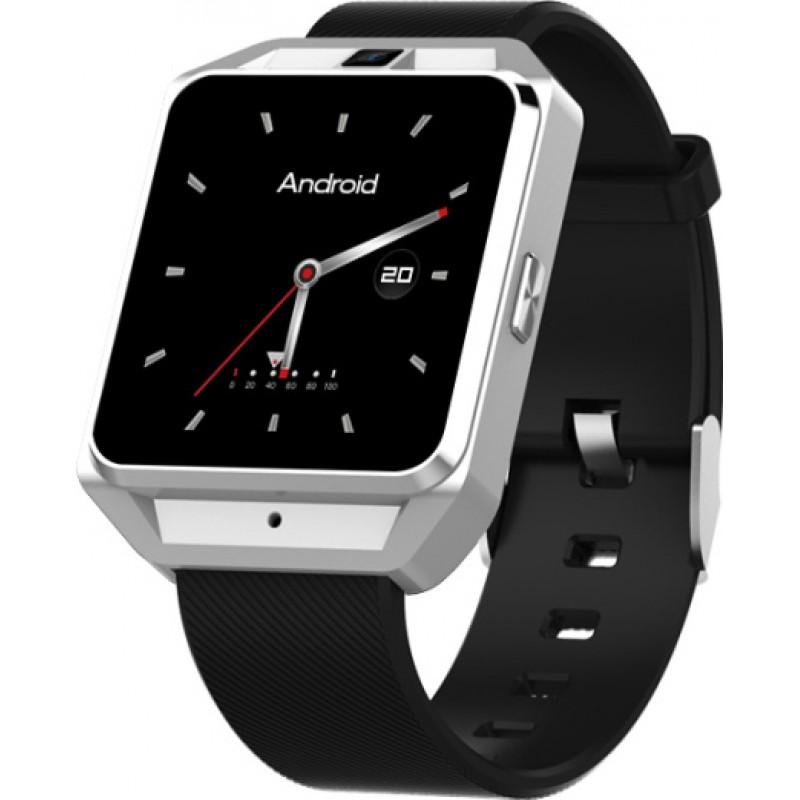 Умные часы Smart Watch Lemfo M5 поддержка 4G wi-fi на Android 6.0 (Серебристый)