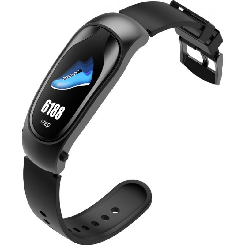 Умный фитнес-браслет и bluetooth гарнитура King Wear KR04 (Черный)