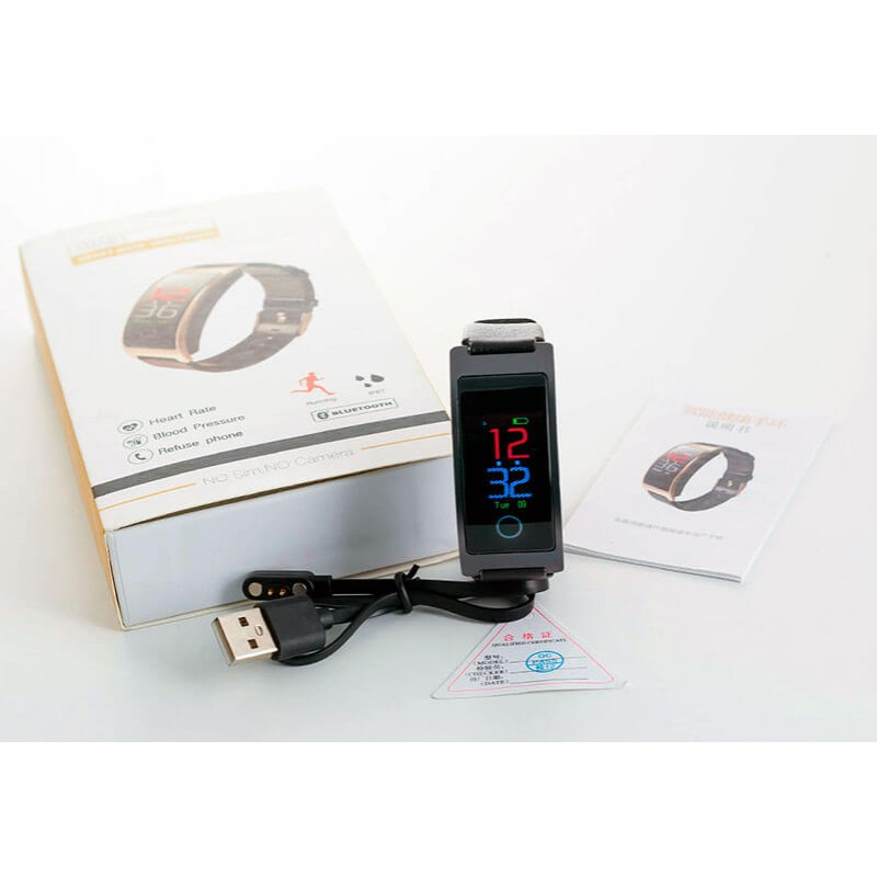 Умный фитнес-браслет Finow CK11S Plus с тонометром (Черный)