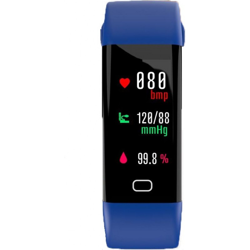 Умный фитнес браслет Lemfo F07 с тонометром (Синий)
