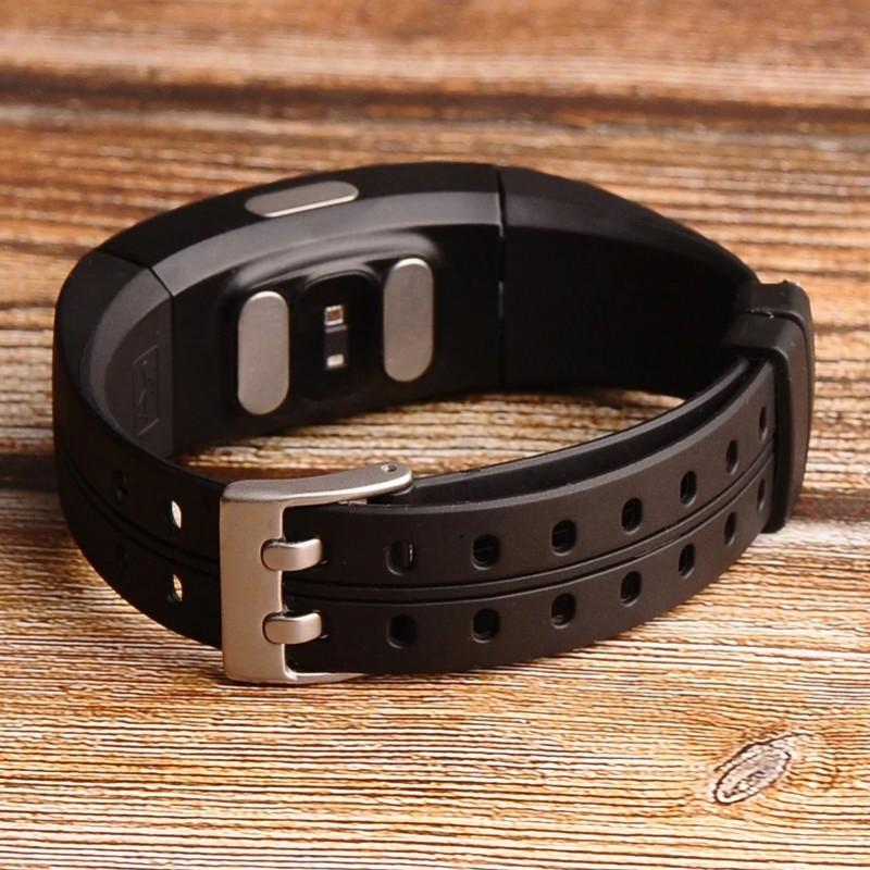 Умный фитнес браслет Lemfo P3 Plus с ЭКГ и тонометром (Черный)