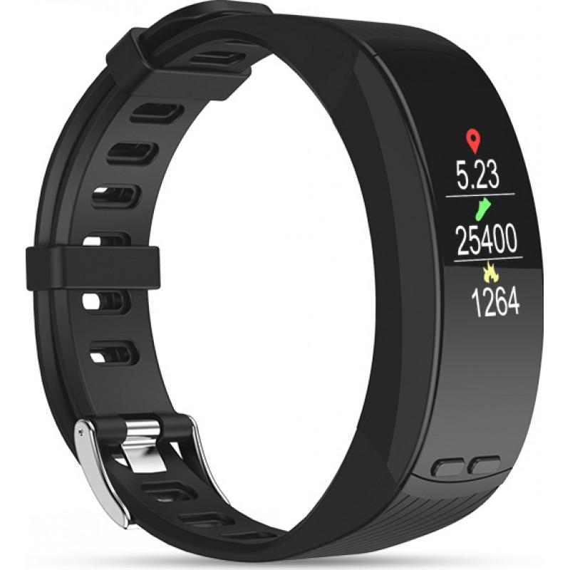 Умный фитнес браслет Lemfo P5 с Oled-дисплеем и встроенным GPS (Черный)
